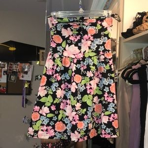Strapless Floral Dress MINI